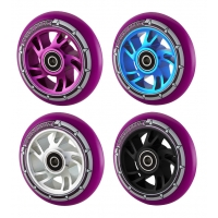 Pro 110mm Swirl Alloy Core Scooter Wheel - Purple PU