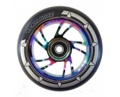 Pro 110mm Swirl Alloy Rainbow Core Scooter Wheel..