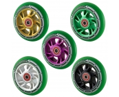 Pro 100mm Alloy Core Scooter Wheel - Green PU