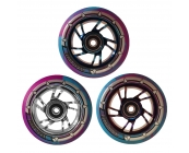 Pro Swirl Wheel 100mm - Chrome Core, Blue & Purp..