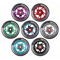 Pro Swirl Scooter Wheel Alloy Core 100mm - Black PU
