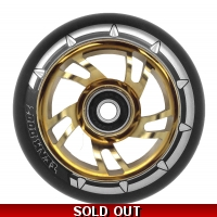 Pro Swirl Wheel Alloy Core- Black PU Chrome Gold Core
