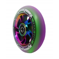110mm Rainbow Swirl Alloy Core With Mixed Purple/Green PU Rubber