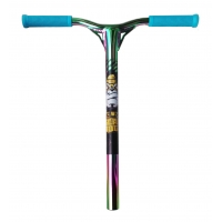 Pro-X Ultimate Scooter Handlebars With Grips - Neochrome Rainbow