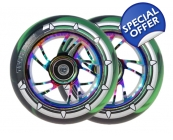 PAIR 100mm Rainbow Core X-Gen Pro4 Wheel Black &..