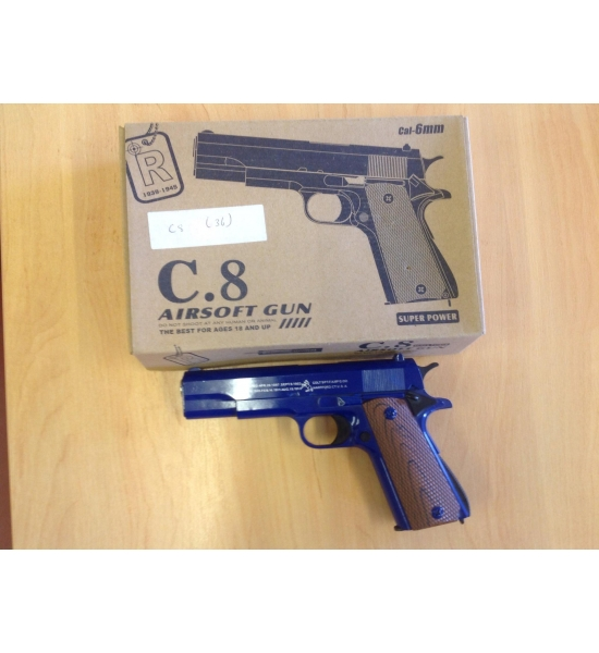 Metal BB gun c8 pistol x 36 pcs