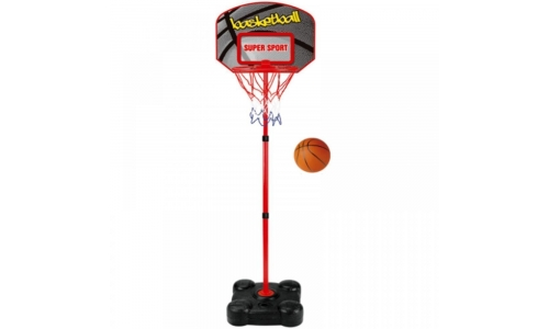 CHILDRENS FREE STANDING BASKETBALL NET HOOP BACKBOARD ADJUSTABLE STAND BALL SET
