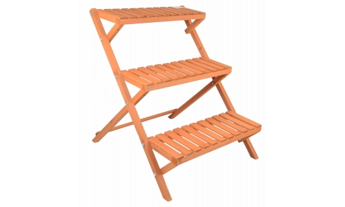 Gr8 Garden Wooden 3 Tier Flower Plant Pot Display Stand Patio Shelf Storage Rack
