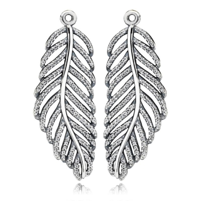 7db8924af Related Products. Popular Products. Pandora Silver Feather Micro Cubic  Zirconia Pave Earring Charms 290680CZ