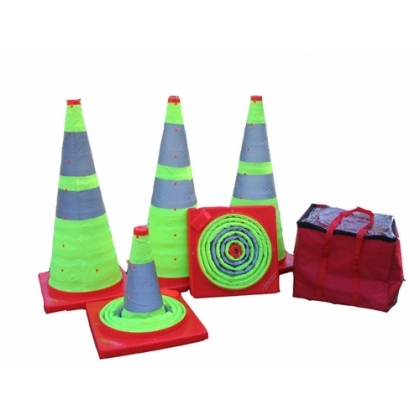 EZ-STOR5L Traffic Safety Road Cones - 5 Pack Lime Green