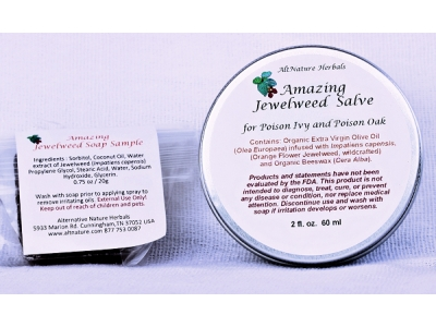 2 oz Amazing Jewelweed Salve for Poison Ivy, Oak and Itching