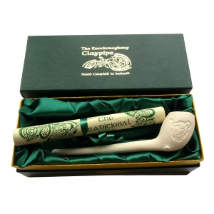 Boxed Clay Pipe with Scroll - Harp Design