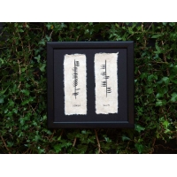 Ogham Two Name Family Plaque