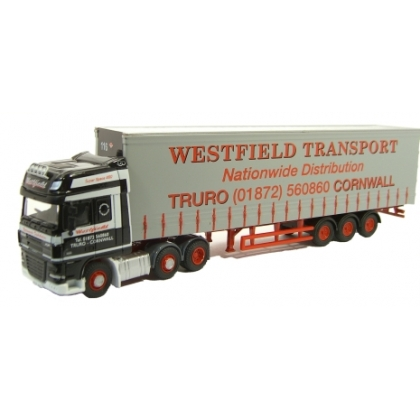 Oxford Diecast 00. Daf FTGXF105 w/curtainside ,Westfield Transport