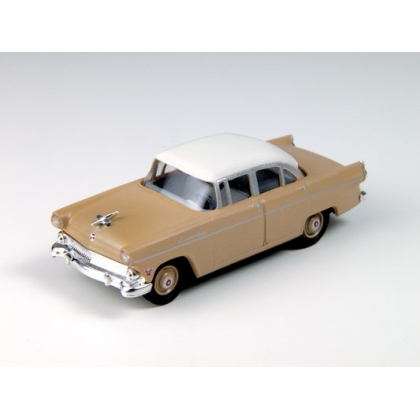 Classic Metal Works HO. 1955 Ford Customline,Brown/White roof