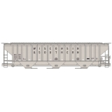 Accurail HO. PS 3 Bay Covered Hopper,W..