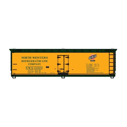 Accurail HO. 40ft Wood Reefer,North Western