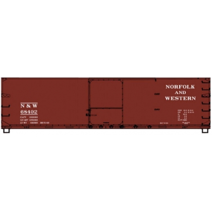 Accurail HO. 40ft DS Wood Boxcar,Norfolk & Western