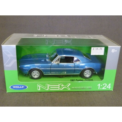 Welly 1:24. 1967 Pontiac Firebird,Blue