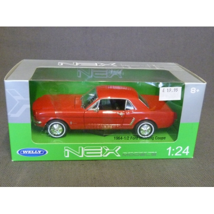 Welly 1:24. 1964-1/2 Ford Mustang Coupe,Red