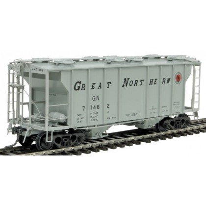 Kadee HO. PS-2 2 Bay Covered Hopper,Great Northern 71482