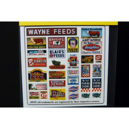 Blair Line N. Vintage Feed & Seed signs