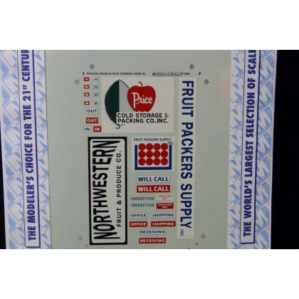 Microscale N. Packing house and cold storage signs set 1