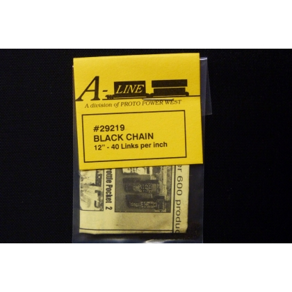 "A Line HO/Other Scales. Black Chain 12"" - 40 links per inch"
