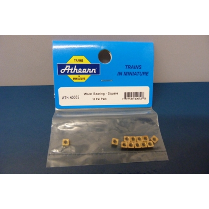 Athearn HO. Worm Bearing - Square Pk 12