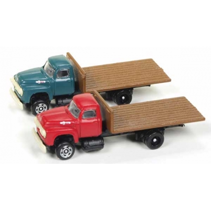 Classic Metal Works N. 1954 Ford Flatbed truck Vermillion/Meadow green 2