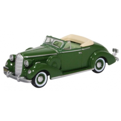 Oxford Diecast HO. 1936 Buick special convertible coupe,balmoral green