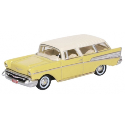 Oxford Diecast HO. 1957 Chevrolet Nomad,Colonial cream/India ivory