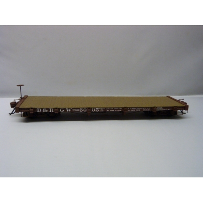 Pre Owned San Juan Car Co On30. 6000 series flatcar with load,D&RGW
