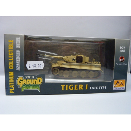 Easy Model 1:72 scale. Tiger I late type tank