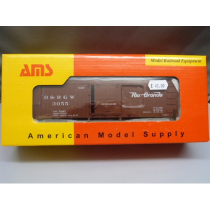 American Model Supply On30. 3000 Series Boxcar,D&RGW No 3055