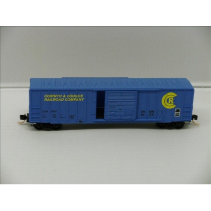 Micro TRains N.50ft Ribside Boxcar,Corinth & Counce No 6407