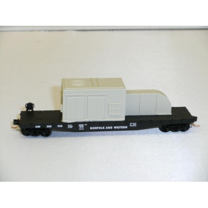 Micro Trains N.50ft Flatcar With Load,N&W No 202536