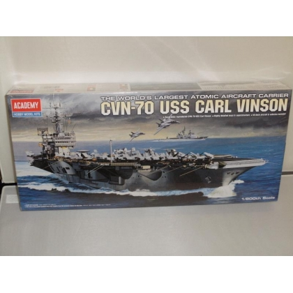 Academy.1/800th Scale CVN-70 USS Carl Vinson Aircraft Carrier Kit