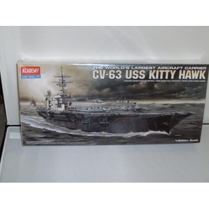 Academy.1/800th Scale CV-63 USS Kitty Hawk Aircraft Carrier Kit