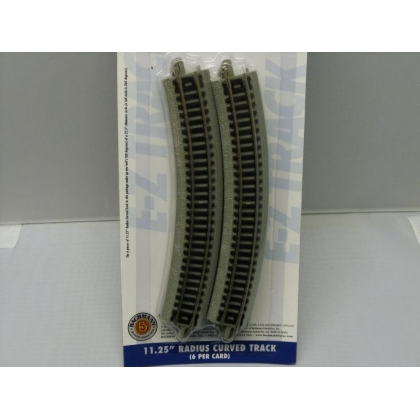 "Bachmann N. E-Z Track 11.25"" Radius Curved Pack of 6"