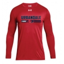 Red UA Long Sleeve Shirt