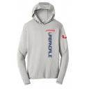 Men's Silver Long Sleeve Hoodie T-Shirt