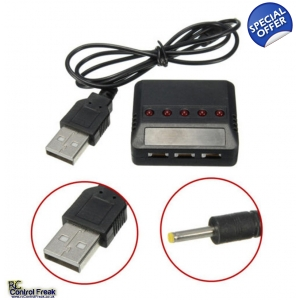 5 in 1 USB Battery Charger For Hubsan X4, WLtoys, MJX, Sym..