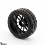1:10 On Road Racing RC Car Rubber Wheels Tyres Rims HSP HPI 9068-6081