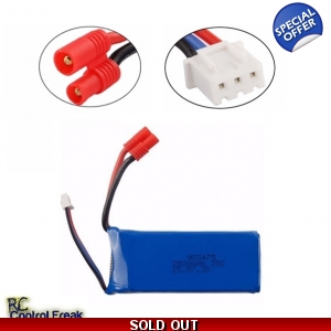 Quality UPGRADE Battery Lipo 7.4v 2000mAh 25c Li-Poly
