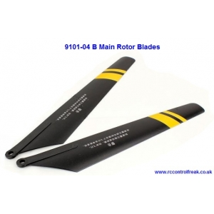 Double Horse 9101-04 B Main Rotor Blades - Black with Yellow Stripes