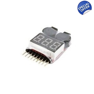 3.7v to 14.4v 1s-8s RC Lipo Battery Tester Low Voltage Buzzer Alarm