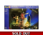 Revell LAUNCH TOWER & SPACE SHUTTLE with BOOSTER..