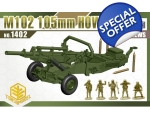 Toxso Model M102 M105mm Howitzer w/crew 1/72