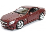 Burago Mercedes-Benz SL 500 RED BURGUNDY 1/24